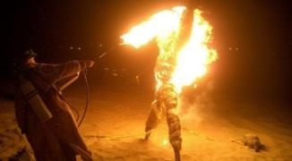 burning strawman